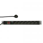 PDU Logilink PDU7C01, 7x Schuko, Black