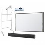 Pachet interactiv - Tabla StarBoard Mobile Premium ST 89 97inch + Videoproiector Maxell MC-CW301WN +  Stand AVTEK 1MV032 + Soundbar Avtek 1SVS08