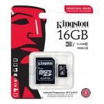 Memory Card microSDHC Kingston Industrial 16GB, Class 10, UHS-I U1 + Adaptor SD