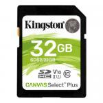 Memory Card SDXC Kingston Canvas Select Plus 32GB, Class 10, UHS-I U1, V10