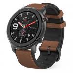 Smartwatch Huami Amazfit GTR, 1.39inch, curea piele, Black-Brown