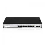 Switch D-Link DGS-1210-10P, 8 porturi, PoE