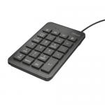 Tastatura numerica Trust Xalas, Black