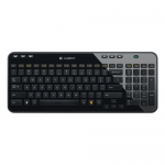 Tastatura Wireless Logitech K360, USB, Layout UK, Black