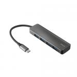 Hub USB Trust Halyx Alu, Grey
