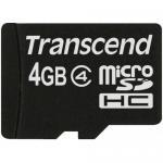 Memory Card microSDHC Transcend 4GB, Class 4