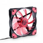 Ventilator Akyga AW-12C-BR, Red LED, 120mm