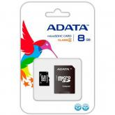 Memory Card microSDHC A-data 8GB, Class 4 + Adaptor SD