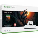 Consola Microsoft Xbox One S, 1TB, White + Joc Shadow of the Tomb Raider
