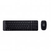 Kit Wireless Logitech K220 - Tastatura, USB, Black + Mouse Laser M150, USB, Black