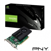 Placa video profesionala PNY nVidia Quadro K2000 2GB, GDDR5, 128bit