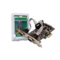 Adaptor Digitus DS-30040 PCI-Express - Serial (2 porturi) + Paralel (1 port)