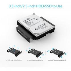 Adaptor HDD/SSD Orico 2.5/3.5inch la 5.25inch, Black