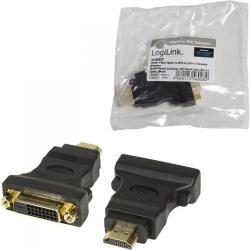 Adaptor Logilink 1x DVI-D Female - 1x HDMI Male, negru