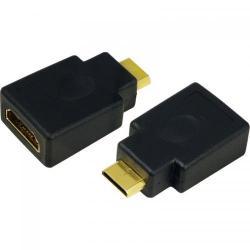 Adaptor Logilink 1x HDMI Female - 1x miniHDMI Male, negru
