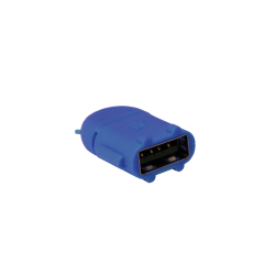 Adaptor LogiLink Micro USB B/Male - USB A/Female OTG, Blue