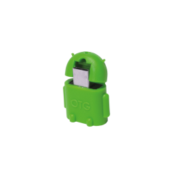 Adaptor LogiLink Micro USB B/Male - USB A/Female OTG, Green