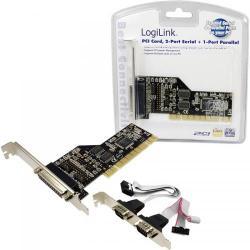 Adaptor LogiLink PC0018 PCI - Serial (2 porturi) + Paralel (1 port)
