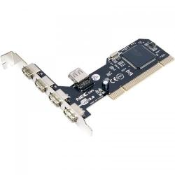 Adaptor LogiLink PC0041 PCI - USB 2.0, 4+1 porturi