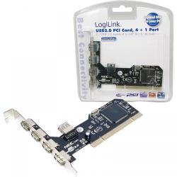 Adaptor LogiLink PC0041 PCI - USB 2.0, 4+1 porturi