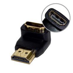 Adaptor Vakoss HDMI F -> HDMI M (unghi) negru