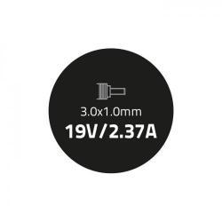 Alimentator Qoltec 51508.45W, 45W, 19V, 3.0x1.0, pentru Laptop Asus