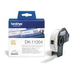 Banda termica Brother DK11204, Hartie Negru-Alb