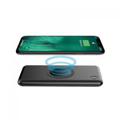 Baterie portabila QI Hame PW10, 10000mAh, 2x USB, Black