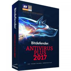 Bitdefender Antivirus Plus 2017 3 user/1 an, Base Retail