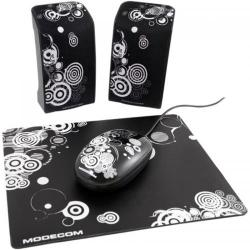 Boxe 2.0 Modecom MC-Starter Art, Black + Mouse si Mousepad Inlcuse
