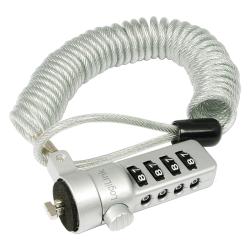 Cablu Anti-furt LogiLink NBS008 cu cifru pentru laptop, Silver