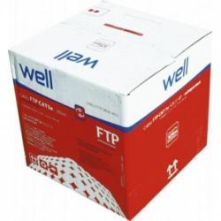 Cablu cu sufa Well FTP CAT5, 1m