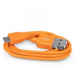 Cablu de date 4World, USB - microUSB, 1m, Orange