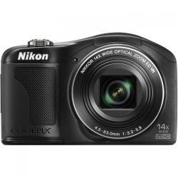 Camera foto compacta Nikon COOLPIX L610, 16.7MP, Black + Card 8GB + Husa + Incarcator Energizer cu 2 acumulatori