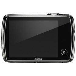 Camera foto compacta Nikon COOLPIX S01, 10.3MP,  Black + Husa