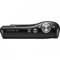 Camera foto Nikon COOLPIX A10, 16.1Mp, Black + Husa + Card 4GB + 2 acumulatori