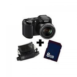 Camera foto Nikon Coolpix L810, 16.1 Mp, Black + Card 8GB + Geanta + Incarcator baterii