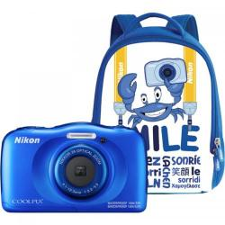Camera foto Nikon COOLPIX Watterproof W100, Backpack kit, 13.2Mp, Blue