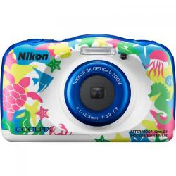 Camera foto Nikon Coolpix Watterproof W100, Backpack kit, 13.2Mp, Marine