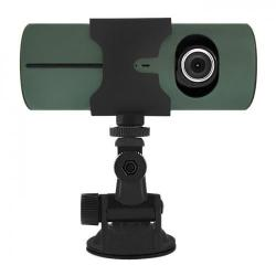 Camera Video Auto Qoltec 50201, HD, GPS, LCD 2.7inch, G-senzor, Black-Grey