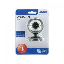 Camera Web 4World 07451, 2MP, Black-Silver