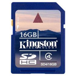 Card Memorie NAND Flash KINGSTON SDHC card 16GB, Class4