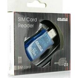 Card reader 4World card flash si card SIM, USB 2.0