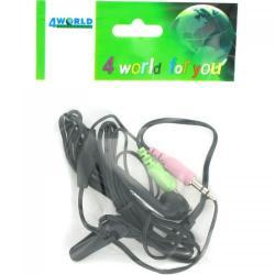 Casti cu microfon 4World mini pentru Skype, Black