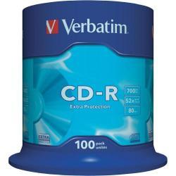 CD-R Verbatim 52x, 700MB, 100 buc
