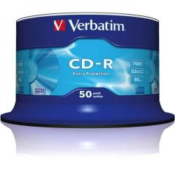 CD-R Verbatim 52X, 700MB, 50 buc, Extra Protection Spindle