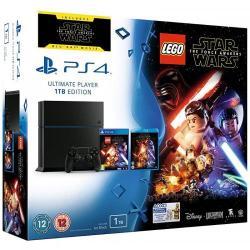 Consola Sony PlayStation 4 1TB Black + LEGO Star Wars: The Force Awaken + Film Star Wars Blu-ray
