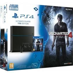 Consola Sony PlayStation 4 1TB Black + Uncharted 4: A Thief's End