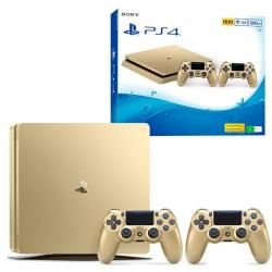 Consola Sony Playstation 4 Slim 500GB Limited Edition, Gold + 2x Controller DualShock 4 V2 Gold