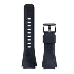 Curea Smartwatch Samsung Active Silicon Strap pentru Gear S3, Blue-Black